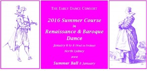2016 Summer Course in Renaissance & Baroque Dance