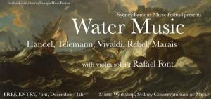 Sydney Baroque Music Festival Free Concert 11 Dec 2015