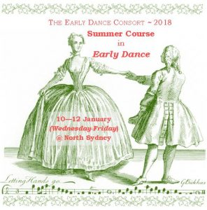 Couple dancing minuet for Summer Course 2018